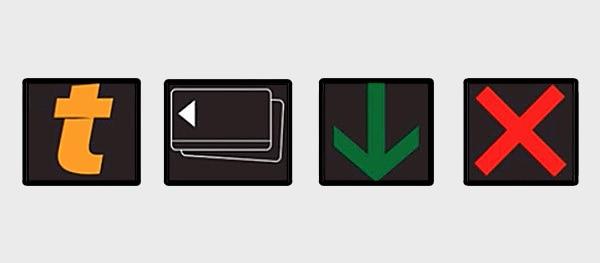 Einige der verschiedenen Wechselverkehrszeichen, die euch an den mautpflichtigen Straßen in Frankreich begegnen können.