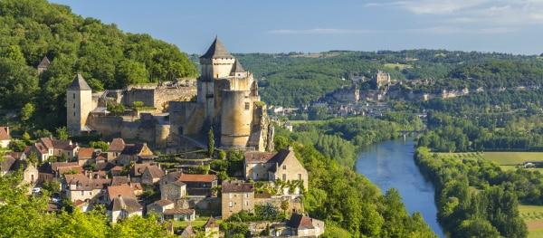 Kanustrecke auf der Dordogne