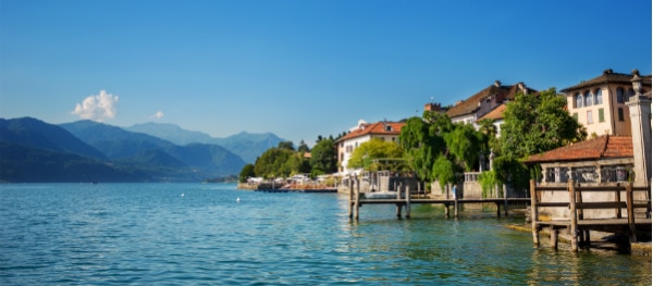 Der Ortasee und ein Teil der Isola San Giulio
