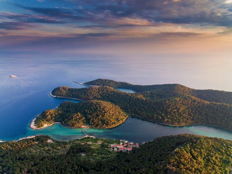 Aussicht auf die schöne Insel Mljet