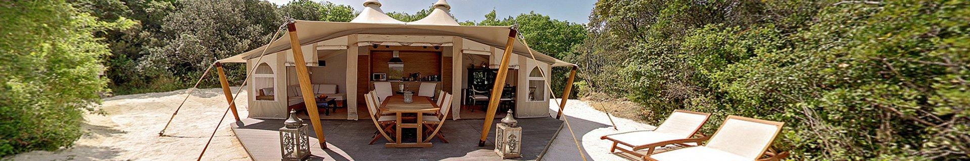 glamping camping mit stil urlaub mit komfort auf dem campingplatz. Black Bedroom Furniture Sets. Home Design Ideas