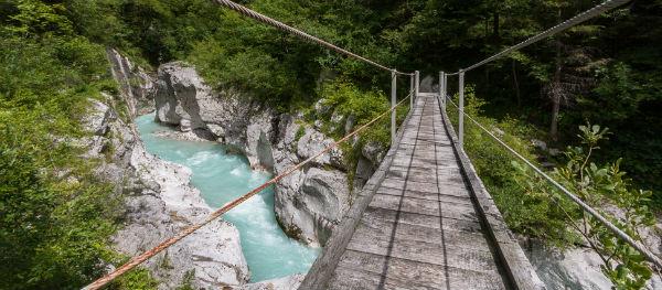 Der Isonzo (auch Soča) Slowenien
