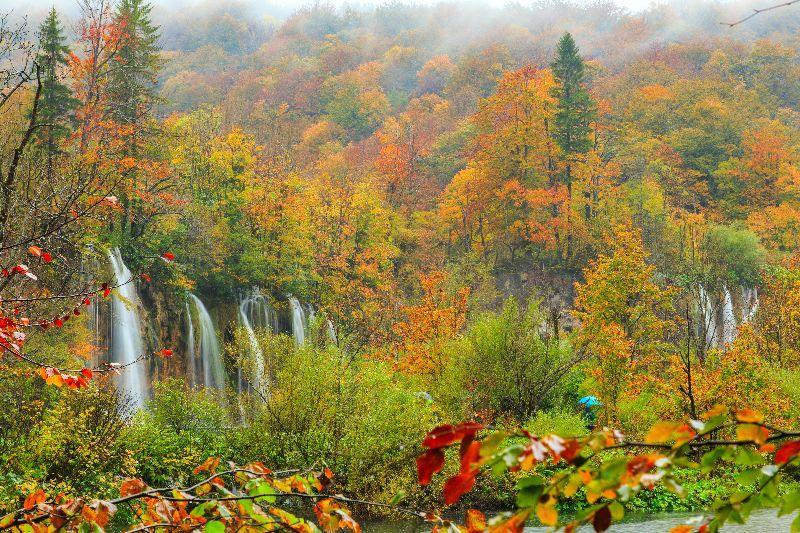 Nationalpark Plitivicer Seen im Herbst