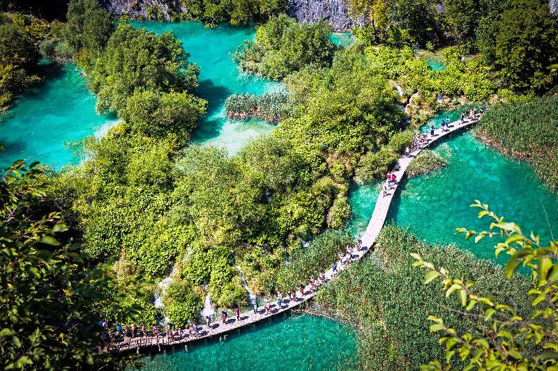 Pfad durch den Nationalpark Plitvicer Seen
